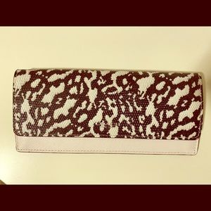 New Coach Black and White Leather Wallet